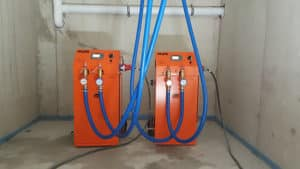 Warmwasserheizungen im Einsatz