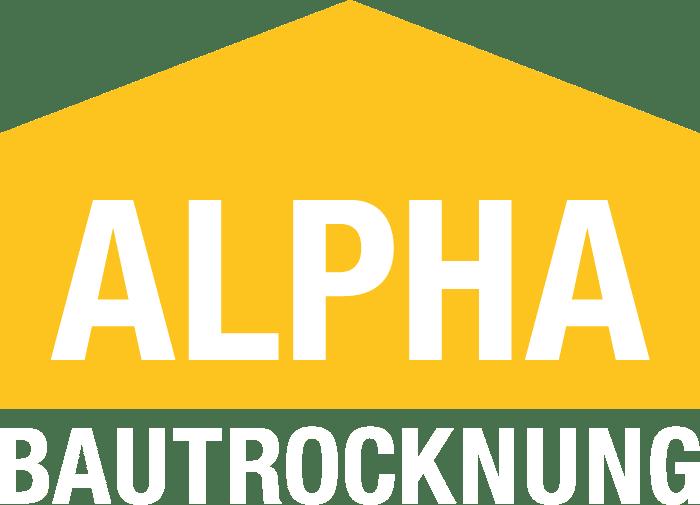 Logo ALPHA Bautrocknung negativ